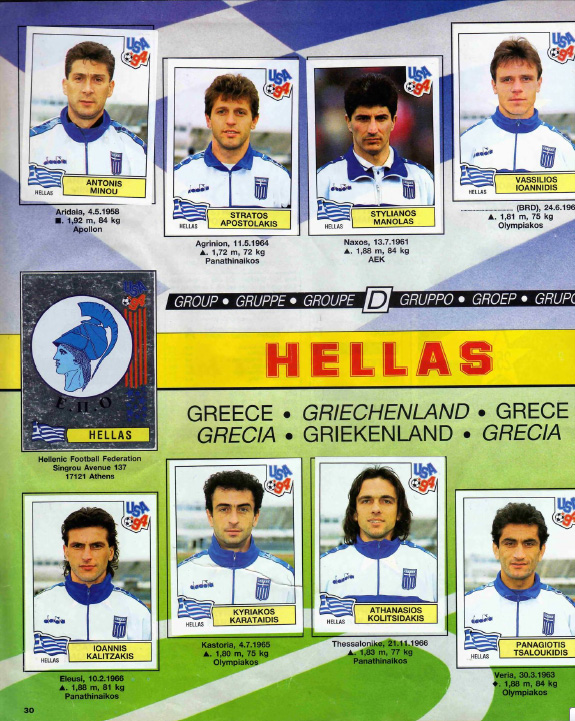 Treat For All Of You Sentimental Types  These Panini Greece Stickers