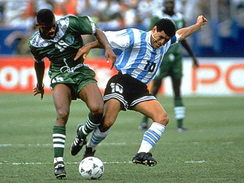 Oliseh close marking the legend in 94