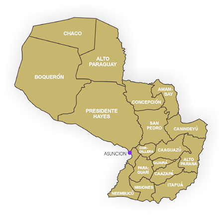 map_paraguay_departments
