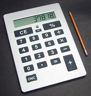 Giant calculator for Nigeria vs Benin