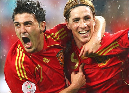 david villa and fernando torres Torres role reduced again for Spain