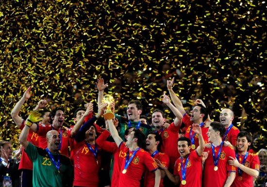 Congratulations to Spain, World Cup winners 2010.